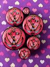 Pair of Girly Anchor Ear Plugs Tunnels Gauges- 6mm - 25mm