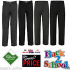 Age 1-9 Boys Children Pull Up School Trousers Elasticated Pants Black Grey Navy