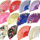 New Spanish Lace Fabric Folding Hand Held Dance Fans Flower Party Wedding Prom
