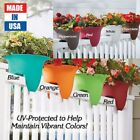 Flower Plastic Railing Planter Pot Garden Porch Rail Outdoor Decor UV Colors USA