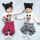 NWT Girl Minnie Long Sleeve Top T-shirt+Pant Baby&Toddler Spring/Fall Tracksuit