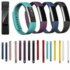 Silicone Watch Band Strap Classic Buckle For Fitbit Alta Smartband 10 Color S/L