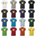 STUFF4 Men's Round Neck T-Shirt/Romania/Romanian Flag Splat/CS