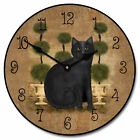 """Large wall Feline Time Clock 10""""- 48"""" Whisper Quiet, Non-Ticking"""