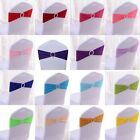 HOT 10pcs Stretch Wedding Banquet Chair Cover Sash Buckle Slider Bow Decoration