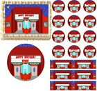 Retro MOVIE THEATER Movie Night Edible Cake Topper Image Frosting Sheet Cake