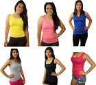 Women's SOFRA 100% Cotton Ribbed Rib A-Shirts Tank Tops Styl