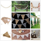Vintage Shabby Rustic Hessian Burlap Banner Wedding Bunting Party Home Decor