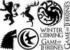 GAME OF THRONES STICKERS MULTI VINYL TRANSFERS IPAD CAR WINDOW DECOR