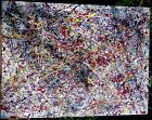 Painting on Canvas Reproduction Impressions of a Jackson Pollock by a US Artist.