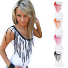 Fashion Summer Sexy Ladies Women's Off Shoulder Casual T-shirt Top Blouse Tassel