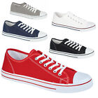 MENS  FLAT LACE UP  BOYS CANVAS TRAINER PLIMSOLLES PLIMSOLLS PUMPS SHOES SNEAKER