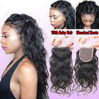 """Brazilian loose wave lace frontal closure 4x4""""100% remy human hair bleach knots"""