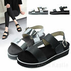 AnnaKastle New Womens Double Strap Platform Sandals US 5 6 7 8