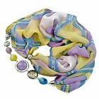 CHOOSE COLOR! Silk Scarf with Beaded Elements Victoria 52x176+30cm