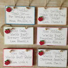 Personalised Teacher Thank You End Of Term Leaving Mini Wooden Sign Gift Present