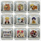 Naruto Shippuden Anime Manga Game Cotton Linen Throw Pillow Case Cushion Cover
