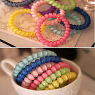 Fashion Headwear Elastic Hairband Candy Color Telephone Line Hair Rope Hair Ring
