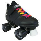 Chicago Bullet Quad Speed Skates with Rainbow Laces