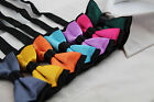 TWO TONE BLACK LAYER BOYS BOW TIE PRE-TIED SUIT SOLID BOWTIE RED WEDDING FORMAL