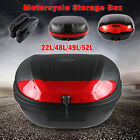 22/48/49/52L Universal Motorcycle Scooter Top Side Tail Box Rear Storage Luggage