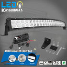 """500W 52"""" Curved Work LED Light Bar Fog Driving DRL SUV 4WD Boat Truck Offroad US"""