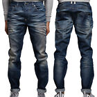 New Mens Foray Regular Fit Jeans Stanton Designer Stylish Light Wash Denim Pants
