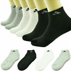 Adi 3 12 Pairs Ankle/Quarter Crew Mens Socks Cotton Low Cut Size 9-11 10-13
