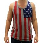 USA flagTank Top Flag colors Made in the USA Flag red Blue Gray