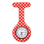 Silicone Pocket Nurse Quartz Watch Fobwatch Clip-on Fob Tunic Medical Brooch