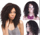 water soft afro  kinky Curly 100%Brazilian Full / Lace Front Wig remy Human Hair