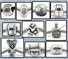SPORTS Ball Silver Plated BEADS Charms for Bracelet Boy Girl Coach Mother's Day