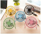 New Portable Mini USB Fan Powered Desktop Cooling Desk Computer Laptop Metal UK