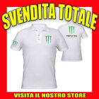 POLO MAGLIA MONSTER DC SHOES IDEA REGALO TUNING MTB MANICHE CORTE UOMO DONNA
