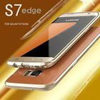 Luxury Aluminum Metal Frame Bumper Back Case Cover Protector For Samsung S7 Edge