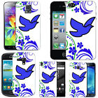 Motif case cover for Mobile Phones - blue lone dove swish