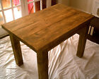 New Hand Made Rustic Plank Kitchen Table in Thick Solid Wood