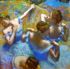 Edgar Degas blue dancers canvas print giclee 8X8&12X12