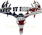 Keep It Redneck American Flag Deer Skull S4 Vinyl Sticker Decal USA patriot hunt