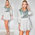 sale GYPSY BOHEMIAN BOHO COACHELLA floral embroidery sun DRESS 8 10 12 14