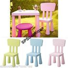 IKEA Kids Children'S PASTEL Stool Indoor Outdoor GREEN PINK BLUE Chair MAMMUT