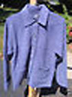 NWT CHEROKEE PEWTER BLUE FLEECE JACKET (Size S & M) NWT Smoke Free Home