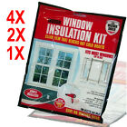 WINDOW INSULATION KIT IN BAG SHRINK DOUBLE GLAZING FILM DRAUGHT EXCLUDER COLD