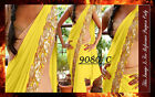 Bollywood Inspired - Party Wear Yellow Saree - 9080-C