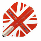 TARGET VISION TRANSLUCENT RED UNION JACK FLIGHTS - Choose number of sets!