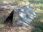 German Army Bundeswehr Flecktarn 2 Man Pup Tent/Zeltbahn shelter New/Supergrade
