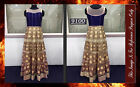 Bollywood Inspired - Wedding Wear Cream & Blue Gown - 9100-C