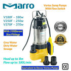 Marro Stainless Steel 180W/250W/370W AUTO Submersible Sump/Dirty Water Pump