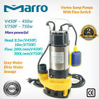 Marro Stainless Steel 450W/750W Automatic Submersible Sump/Dirty Water Pump