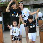 Family sets clothing Boys Girls family cartoon casual T shirts + Pants Outfits